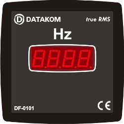 DF-0101 freq meter, 1 phase, 96x96mm